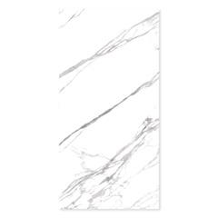 Porcelanato Esmaltado Polido Borda Reta Marmo Branco 120x240cm - Eliane