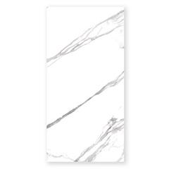 Porcelanato Esmaltado Polido Borda Reta Marmo Branco 80x160cm - Eliane