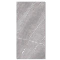 Porcelanato Esmaltado Polido Borda Reta Marmo Gris 120x240cm - Eliane
