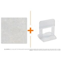 Porcelanato Esmaltado Rústico Borda Reta Connection Silver Ad4 120x120cm - Biancogres