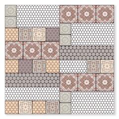 Porcelanato Esmaltado Rústico Borda Reta Ducale Colorido 100x100cm - Ceusa