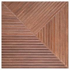 Porcelanato Hd Esmaltado Acetinado Borda Reta Woodwork Marron 84x84cm - Elizabeth