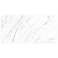 Porcelanato Mate Borda Reta Statuario Branco 100x200cm - Roca