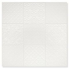 Porcelanato Natural Borda Reta Sintra Stucco Branco 58,4x58,4cm - Cerâmica Portinari