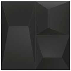 Porcelanato Natural Borda Reta Space Block Preto 20,1x20,1cm - Cerâmica Portinari
