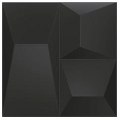 Porcelanato Natural Borda Reta Space Block Preto 20,1x20,1cm - Portinari