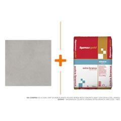 Porcelanato Polido Borda Reta Concrete Gray 120x120cm - Roca