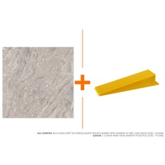 Porcelanato Polido Borda Reta Marmo Di Gre 120x120cm - Biancogres