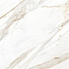 Porcelanato Polido Borda Reta Mármores Branco 121x121cm - Embramaco