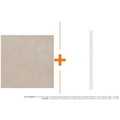 Porcelanato Rústico Borda Reta Murani Cimento  120x120cm - Eliane