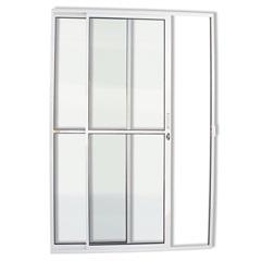 Porta Balcão com 2 Folhas em Alumínio Super 25 210x150cm Branca - Brimak