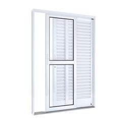 Porta Balcão Lateral Direito Branco 215x150x14cm - Lucasa