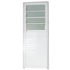 Porta Basculante em Alumínio Direita L-25 210x80cm Branca - Brimak