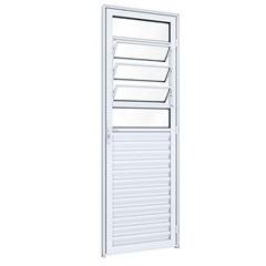 Porta Basculante Esquerda Ideale 215x85cm Branca - Lucasa