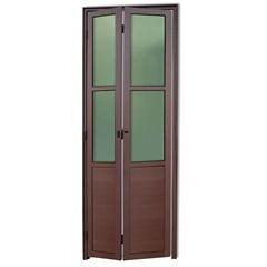 Porta Camarão Direita com Lambri E Vidro em Alumínio Linha 25 210x80cm Cortem - Brimak