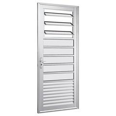 Porta com Básculas Direita Alumifort 216x88cm Branca - Sasazaki