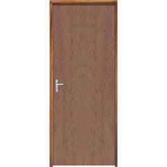 Porta com Miolo Semi Oco Montada Direita Imbuia Lisa 210x62cm Natural - Sidney Esquadrias