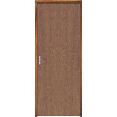 Porta com Miolo Semi Oco Montada Direita Imbuia Lisa 210x82cm Natural - Sidney Esquadrias