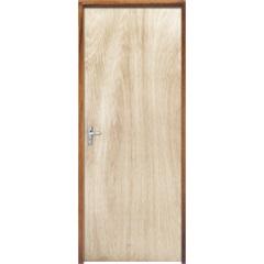 Porta com Miolo Semi Oco Montada Direita Virola Lisa 210x82cm - Sidney Esquadrias