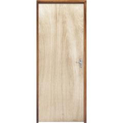 Porta com Miolo Semi Oco Montada Esquerda Virola Lisa 210x62cm