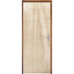 Porta com Miolo Semi Oco Montada Esquerda Virola Lisa 210x72cm - Sidney Esquadrias