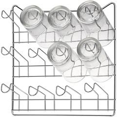 Porta Copos de Parede em Aço para 12 Unidades Cromado - Arthi