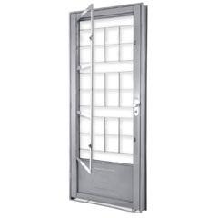 Porta de Abrir com Postigo E Grade Quadrada Direita 215x90x13 Ref.1359.2 - Lucasa