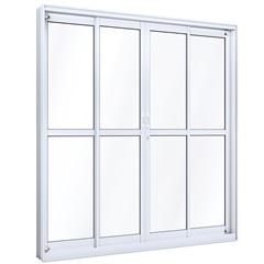Porta de Correr Central com Travessa Ideale 215x200cm Branco - Lucasa