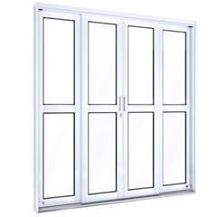 Porta de Correr Central Facilità 213x200cm Branco - Lucasa