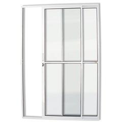 Porta de Correr com 2 Folhas em Alumínio Super 25 210x120cm Branca - Brimak