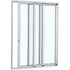 Porta de Correr Direita Alumínio 3 Folhas 216x160cm Branca - Sasazaki