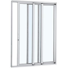 Porta de Correr Direita Alumínio 3 Folhas 216x200cm Branca - Sasazaki