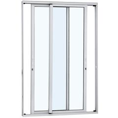 Porta de Correr em Alumínio 2 Folhas 216x160cm Branca - Sasazaki