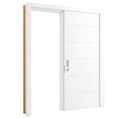 Porta de Correr em Mdp Sólido Direita Bella 210x82cm Branca - Vert