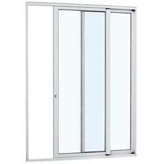 Porta de Correr Esquerda Alumínio 2 Folhas 216x160cm Branca - Sasazaki