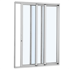Porta de Correr Esquerda Alumínio 3 Folhas 216x160cm Branca - Sasazaki