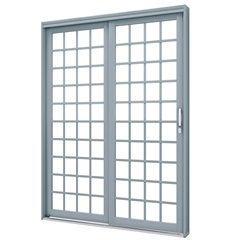 Porta de Correr Esquerda Quadrada Premium 213x160cm Cinza - Lucasa