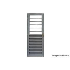 Porta de Giro em Aço com Báscula 215x85cm Cinza - Lucasa