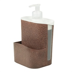 Porta Detergente E Esponja Wave Imbuia - Evo
