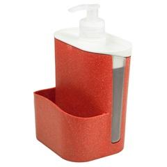 Porta Detergente E Esponja Wave Mogno - Evo