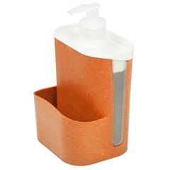 Porta Detergente E Esponja Wave Terracota - Evo