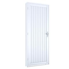 Porta Direita Calha Facilità 215x100cm Branco - Lucasa
