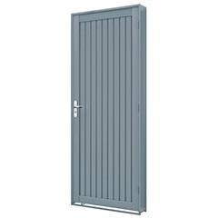 Porta Direita Calha Premium 215x86cm Cinza - Lucasa