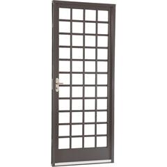 Porta Direita com Divisão Quadriculada Belfort 217x87cm Cinza - Sasazaki