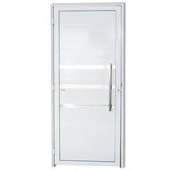 Porta Direita com Friso E Puxador em Alumínio Super 25 210x80cm Branca - Brimak
