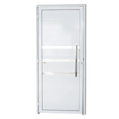 Porta Direita com Friso E Puxador em Alumínio Super 25 210x90cm Branca - Brimak