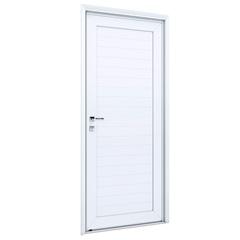Porta Direita com Lambri E Maçaneta Eccellente 215x85cm Branca - Lucasa