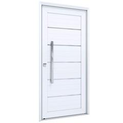 Porta Direita com Lambri E Puxador Eccellente 215x105cm Branca - Lucasa