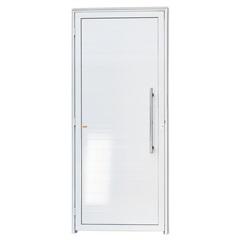 Porta Direita com Lambri E Puxador em Alumínio Super 25 210x100cm Branca - Brimak