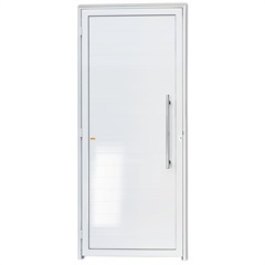 Porta Direita com Lambri E Puxador em Alumínio Super 25 210x90cm Branca - Brimak